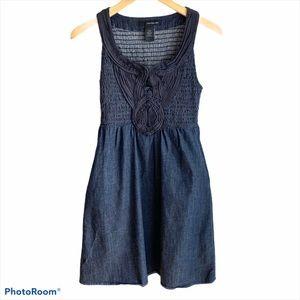 Calvin Klein Jeans Sleeveless Dark Denim Dress